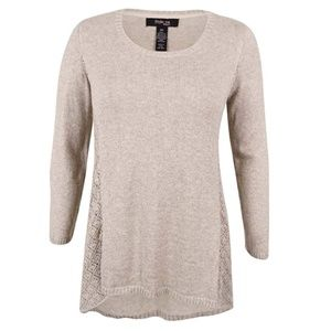 Style & Co Pointelle Sweater 0X NEW